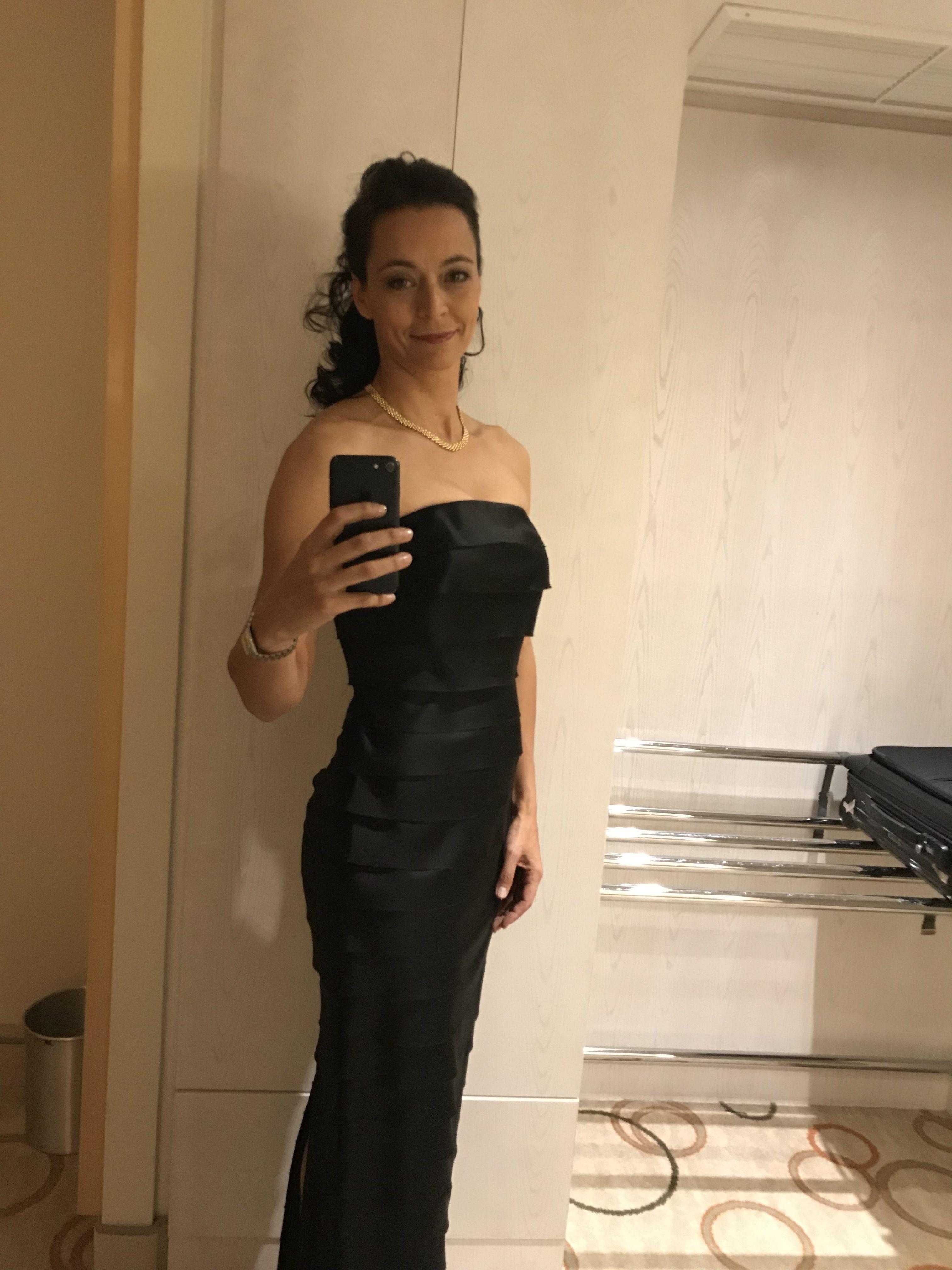 Selfie von Yvonne de Bark, ich sehe meine Körpersprache
