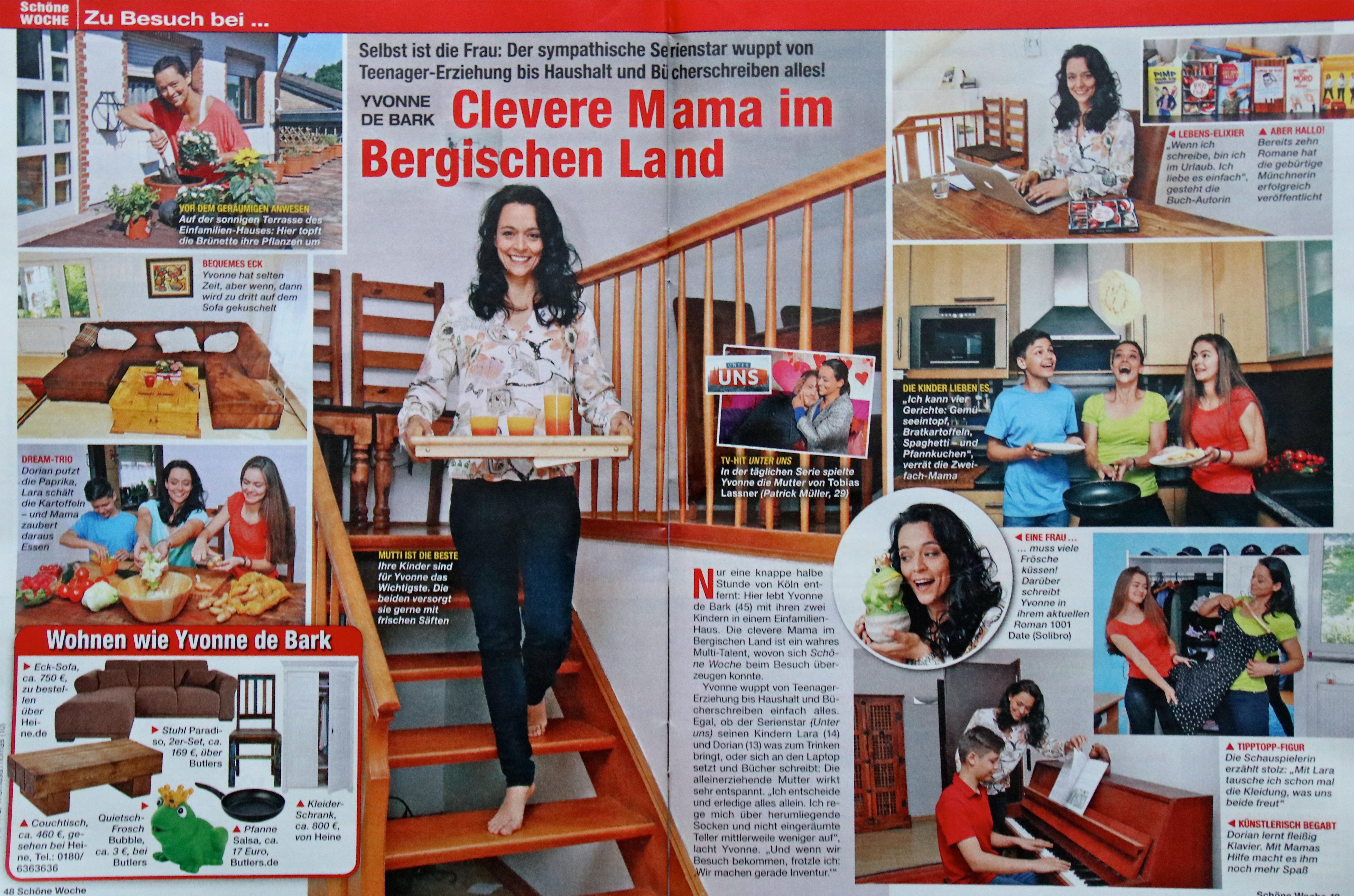 Clevere Mama im Bergischen Land Bericht in der Schönen Woche über Yvonne de Barke