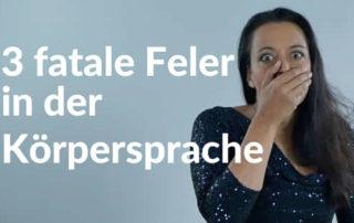 Drei fatale Fehler in der Körpersprache Blog von Yvonne de Bark