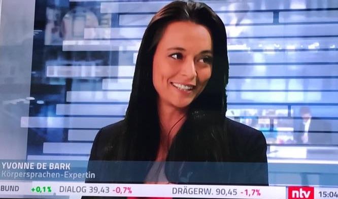 Yvonne de Bark Körpersprachen Expertin bei ntv